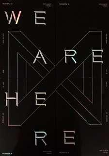MONSTA X {WE ARE HERE}-SELECT VER I / I / III / IV - SEALED ORIGINAL + FOLDED POSTER