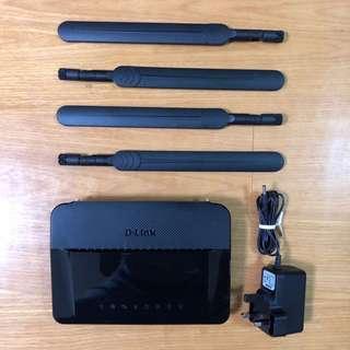 D-Link DIR-842 無線路由器 AC1200雙頻Gigabit乙太網7dBi天線 WiFi Router