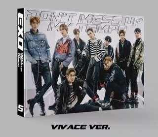 EXO DON'T MESS UP MY TEMPO-VIVACE VERSION -LIMITED ED ALBUM -SELECT MEMBER PHOTO CARD