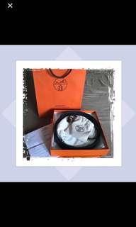 Hermes Belt Buckle & Reversible Leather Strap 32 MM