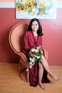 Maroon Bridal Robe