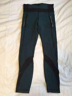 Lululemon Leggings with Zippers Mesh and Pattern