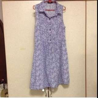 $29.95 Sweet Pastel Purple Floral Flare Dress With Elastic Waistband ( Brand New)