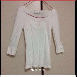 $59 G2000 Sweet Pastel White Long-sleeve Top ( Brand New With Price Tag)