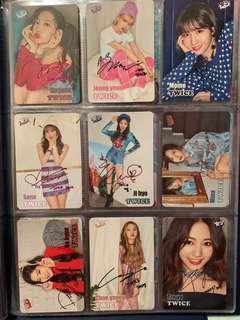 Twice yes card 閃彩簽 簽名咭 set 一套9張