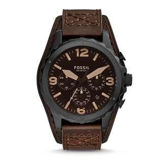 🚚 Fossil Men's Nate Chronograph dark brown Leather Watch
