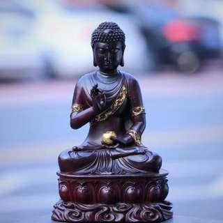 🔥🔥🔥 佛像欣赏  【南摩药师琉璃光如来】印度小叶紫檀 拆房老料