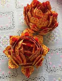 Buy 2 handmade Lotus Flowers @ $4.60 (for 清明节 Qing Ming/suitable occasions)