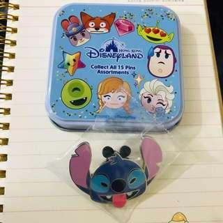 Disney Pin 香港迪士尼神秘盒徽章 STITCH 史迪仔