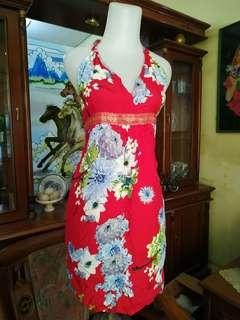 Dress Bunga red bali