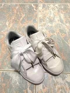 🈹 Puma Basket Heart Patent Wn's white Bow