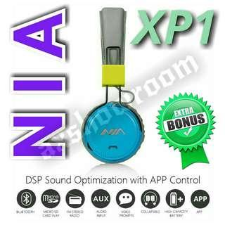 Wireless Bluetooth Stereo DSP Processing Flagship Headset NIA XP1  Free Premium Aux Audio Cable