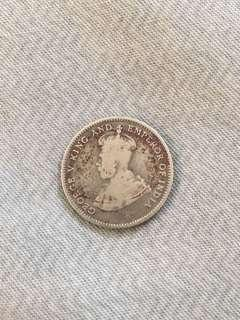 King George V 1926 10 cents