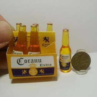 🚚 Dollhouse Miniature : 6pcs of Coranu bottles drink