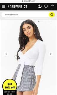 Forever 21 Knot-Front Crop Top