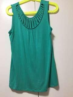 Women's Teal colored stretchable sleeveless top