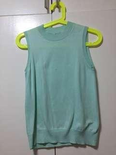 Uniqlo Women's Turtle Mint color Neck Cotton Top