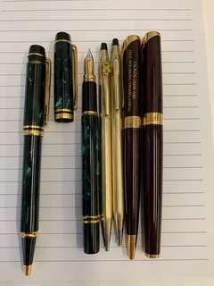 Parker, Waterman and Cross ( in one sale).