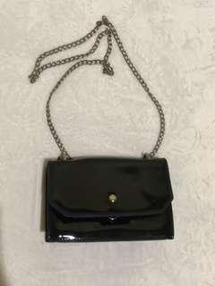 Black satchel sling bag