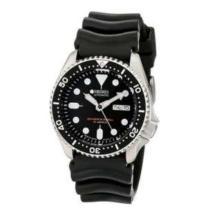 [✅FREE postage]: ✅💯Authentic Seiko (Japan Made) Men Automatic Diver Black Resin Strap Watch SKX007J1