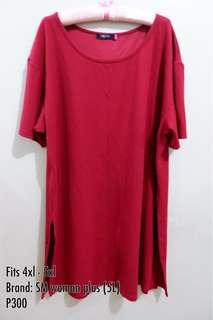Plus Size dress with slit on both sides 4xl - 5xl