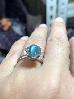 🚚 TT25 Natural Labradorite Ring with 925 silver