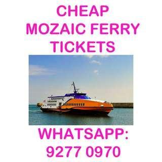 🚚 CHEAP Mozaic Ferry Tickets (To Bintan Lagoon Terminal)