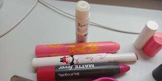 Lipsticks & lip balm
