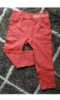 Nike pro dri fit tights small red