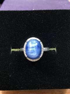 🚚 Natural Kyanite Ring  925silver size adjustable LZ545