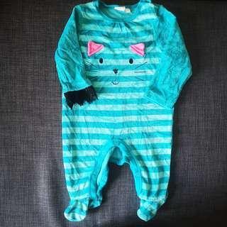 Baby girl onesie PJs