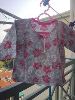 Baju Kurung Cotton budak