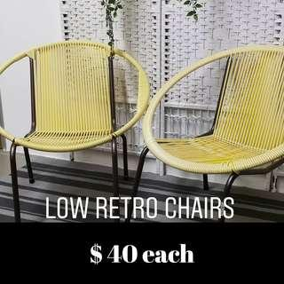 Retro Low String Chairs