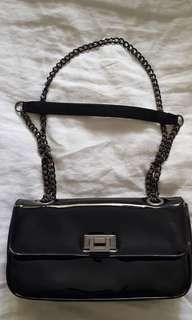 Edward Meller Black Patent Bag