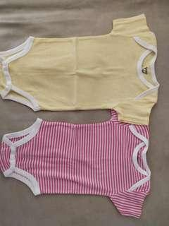 (Free Normal Mail)Brand New Guess Baby Rompers 0-3mths Both @ $7