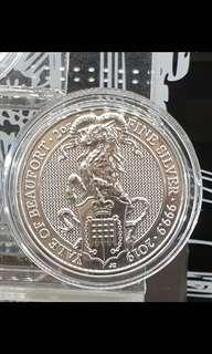 Queen Beast Yale Silver Coin