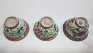 Peranakan phoenix tea cup