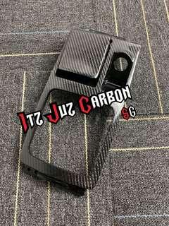 Mitsubishi Evolution X Carbon shifter panel