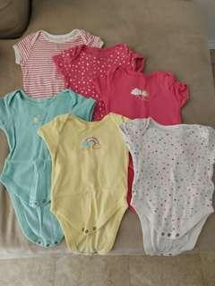 (Free Normal Mail)Pre❤ Early Days Baby Rompers 6pcs for $8