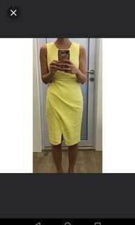 🚚 Love Bonito Yellow Lace Dress