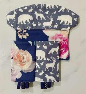 🚚 BN handmade customized ergo Omni 360 drool bib and pads