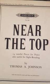 Near the Top practice and sight reading book