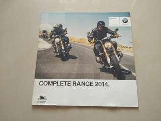Free✈️BMW Motorrad booklet catalog collection 2014