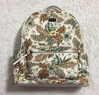 Pedro Tropical Prints Floral Knit Zipper Backpack