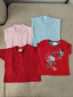 (Free Normal Mail)Pre❤ Baby Tshirt Tees 3-6mths 4pcs for $4