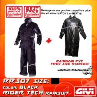 GIVI RRS07 RAINCOAT + RAINBOW PVC FREE SIZE RAINCOAT
