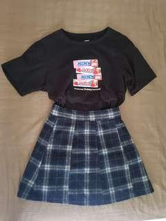 🚚 Blue checkered skirt