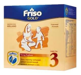 Friso Gold Step 3 Milk Powder 1.2kg Refill Pack