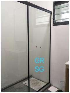 Aluminum powdercoated frame Shower Screen -