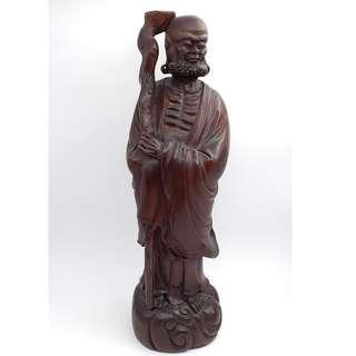 黃楊木雕 羅漢像-Luohan carved from wood